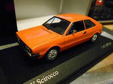 VW VOLKSWAGEN SCIROCCO 1 MKI 1974 Arancione Rare PMA MINICHAMPS 1:43