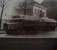 Älteres Blechschild Oldtimer LKW Mercedes Benz Zug Werbung Reklame gebraucht