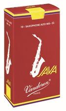 Vandoren Java Red Alto Saxophone Reeds Strength 3, Box of 10