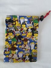 "Dice Bag Cloth Drawstring Lego Minifigures 4.5"" x 6"""