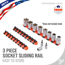 Socket Sliding Rail Mountable Rack Holder Tray Organizer Industrial 1/4 3/8 1/2