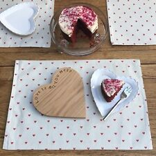 Biggie Best Tiny Red Love Hearts Placemat