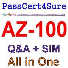 Best Exam Practice Material for AZ-100 Exam Q&A+SIM