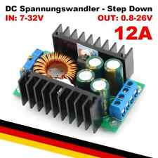 Spannungswandler 7-32V > 0.8-28V 12A | DC Step Down Wandler Spannung Strom