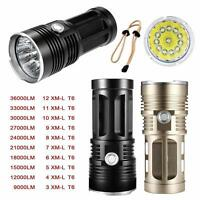 Taschenlampen Original SKYRAY 35000Lm 10x XML T6 LED Stark Power Taschenlampe Flashlight Lamp Camping & Outdoor
