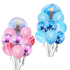 1st Birthday Boy Girl Filled Balloons Foil Balloon Party Decoration Confetti UK