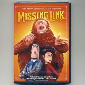 Missing Link 2019 PG stop-motion adventure comedy movie, new DVD, Hugh Jackman
