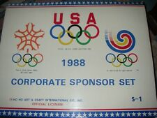 1988 CALGARY OLYMPICS 48 SPONSOR PINS FRAMED SET-LTD ED-- GET READY FOR RIO