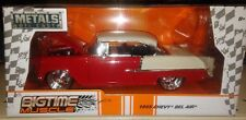 1955 Chevy Bel Air Die-cast Car 1:24 Jada Toys Big Time Muscle 8 inch RED Chrome