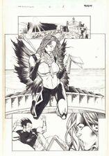 Inhumans #6 p.1 - Alaris with Beautiful Tonaja Splash 2003 art by Matthew Clark