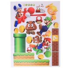3D Super Mario Bros Removable HUGE Wall Stickers Decal Kids Home Decor Hot