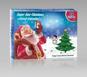 Super Star Christmas Fidget Toys Advent Calendar (S084) 24 Fun Fidget Toys Insid
