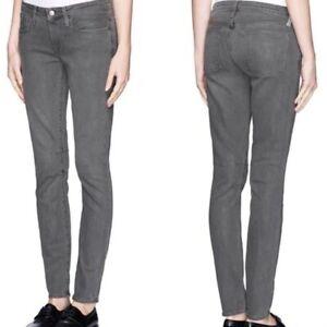 Helmut Land Women's Raw Gray Denim Jeans Skinny Jeans Style e07hw205 Size 29