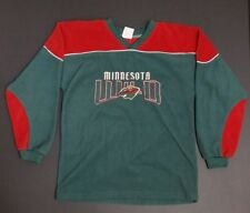 MINNESOTA WILD NHL Hockey Boys Green Logo Sweatshirt  - Large 14/16