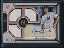 2018 Topps Museum Collection Triple Relic Auto Autograph Greg Bird Yankees /25