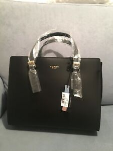 tosca blu Black Handbag New With Tags Leather Made In Italy