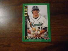 Mike Trout 2010 Minor League Cedar Rapids Kernels Rookie Card # 3 of 3 Green
