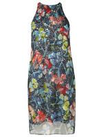 New L.K. Bennett Carmel Print Silk Dress Sz UK 12,14,18