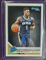 2019-20 Donruss Zion Williamson #201 Rated Rookie Base New Orleans Pelicans RC