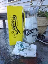 CHEERS Boston Beer Souvenir Glass Pilsner w/ Box & Napkins Mug Cup Bar TV Show