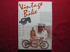 1924 Ace 1/16 Aoshima Motorcycle Model Kit Japan Vintage Bike