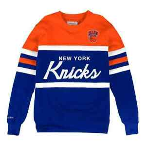 New York Knicks Mitchell & Ness  Men's NBA Head Coach Crew Sweatshirt
