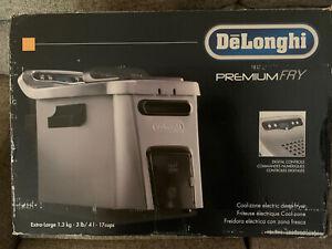 DeLonghi D34528DZ Stainless Steel, Oil Drain, Dual Zone Deep Fryer