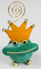 Handmade Metal Frog Prince Ornament Photo Memo Holder