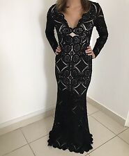 Black Lace Prom/Gown/Peagant/Formal/Evening Dress 00/0/2/4XS/S Jovani