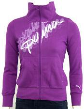 Puma Mädchen Sweatshirt Hoody Zip Hoodie Sweatjacke Pullover Logo Lila Gr. L 152