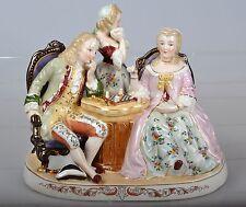 Porzellanfigur Figurengruppe Schachspiel Spiel Porzellan