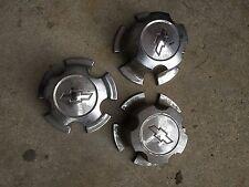 Set of 3 Chevrolet Camaro Bowtie Center Caps Hubcaps Plastic