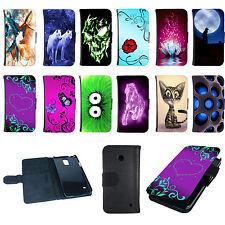 Book Tasche für Smartphone Handy Flip Case Cover Hülle Etui Bumper Design Motiv
