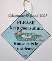 Siamese Cat art sign redpoint in residence from painting by Suzanne Le Good