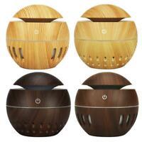 130mL Wood Grain USB Aroma Essential Oil Diffuser Ultrasonic Humidifier C#P5