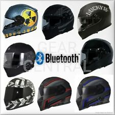 TORC T14B Mako Bluetooth Full Face Motorcycle Dual Visor Helmet - DOT ECE