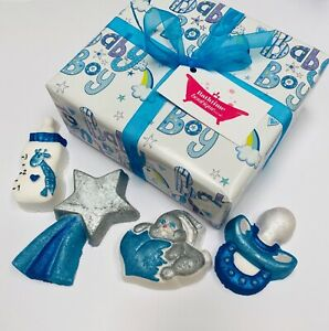 Mum to Be Baby Boy Bath Bomb Gift Sets. Perfect baby shower gift for mother's