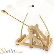 Wooden Leonardo Da Vinci Catapult Firing Action Model Construction Toy