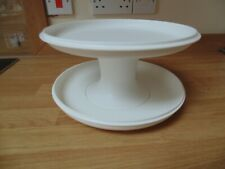 TUPPERWARE 3 PIECE CAKE STAND. SERVING TRAY