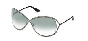Authentic Tom Ford FT 0130 Miranda 08B Gunmetal/Smoke Gradient Sunglasses