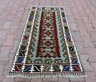 Cappadocia Tribal Handmade Kilim Area Rug Vintage Authentic Turkish Carpet 3x5ft