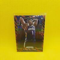 Zion Williamson Tiger Stripe Prizm Rookie Card - VINYL STICKER - Pelicans RC