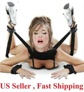 Restraint System Strap Hand & Ankle Cuffs Strap Sex Toy Couple BDSM Bondage Kit