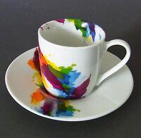 Espressotassen On Colour Porzellan 4tlg. 2er SET Könitz  - Espresso goes Art