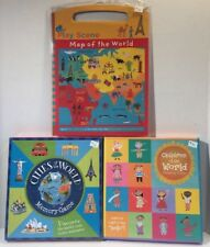 Cities & Children of the World Matching/ Memory Game LOT Learn Geography