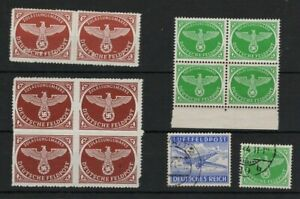 GERMANY 1940s FELDPOST AIRPOST STAMPS BLOCKS & MORE MNH** & USED -CAG 040421