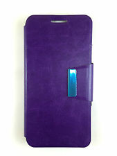 COVER CASE FOR MOTOROLA GOOGLE NEXUS 6 COVER WITH CLOSURE OF MAGNETIC PURPLE