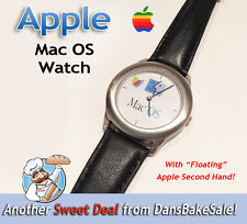 Apple Mac OS Watch w/ Floating Apple Second Hand - Vintage, Hard to Find, NICE!