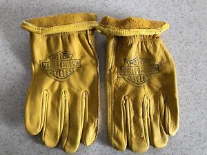 Harley Davidson Branded Leather Gloves L