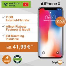 Apple iPhone X 64GB Handy mit mobilcom-debitel Vertrag 2GB Allnet Flat 41,99€mtl